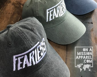 Fearless Psalm 16:8 Embroidered Pigment Dyed Comfort Colors Hat