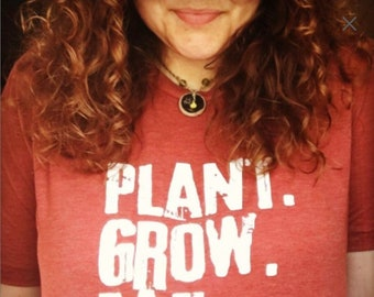 Plant. Grow. Eat. Repeat. Vintage Adult Tees / Mission Farmers Market Adult Unisex Tees