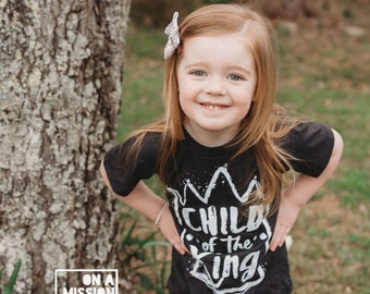 Child of the King Toddler Crew Sustainable Fair Trade Triblend T-shirt