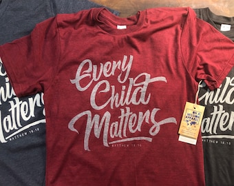 Every Child Matters Youth Crew Sustainable Fair Trade Triblend T-shirt