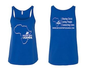 Mission Trips Uganda Logo Team Fundraiser Tank Top