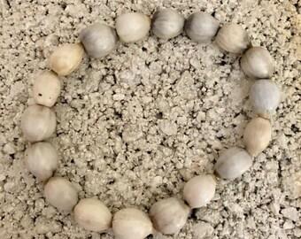 Job's Tears White Beach Ceramic Jewelry Bracelet Fair Trade from Haiti