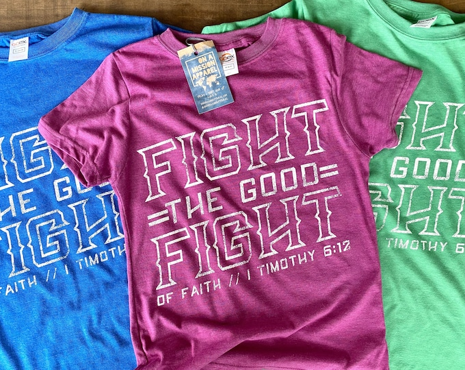 Featured listing image: Fight the Good Fight Youth Crew Sustainable Fair Trade Triblend T-shirt