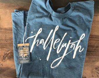 Hallelujah Adult Unisex Christian T Shirt
