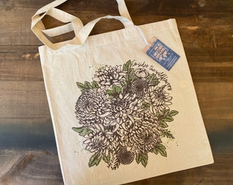 Consider the Wildflowers Canvas Tote | Farmers Market Lightweight Tote Bag