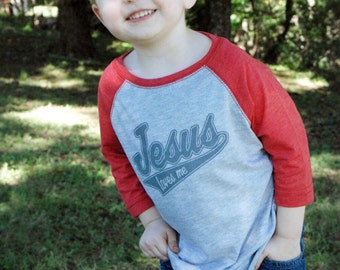 Jesus Loves Me Toddler Baseball Tees
