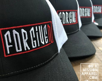 Forgiven Embroidered Trucker Hat with Snapback