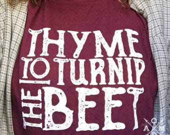 Thyme to Turnip the Beet Vintage Adult Tees / Mission Farmers Market Adult Unisex Tees