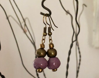 Callie Pierre Ceramic Bead Earrings Fair Trade from Haiti