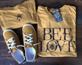 Bee Love Mission Farmers Market Adult Unisex T Shirt
