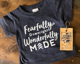 Fearfully and Downright Wonderfully Made Infant Unisex T-shirt Fundraiser for Down Syndrome Adoption