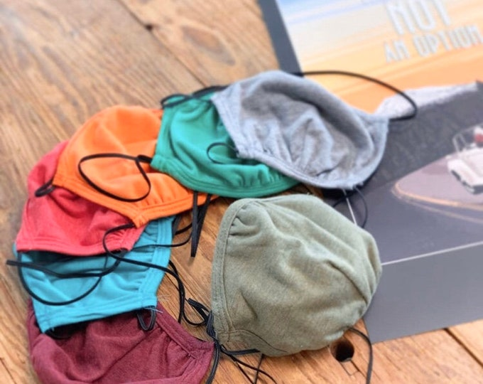 Featured listing image: Face Mask Triblend Sustainable Washable Reusable with adjustable nose piece