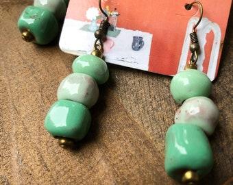 Ombre Fair Trade Haitian Clay Earrings