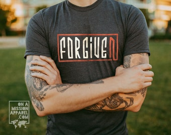 Forgiven Adult Unisex Sustainable Fair Trade Triblend T-shirt