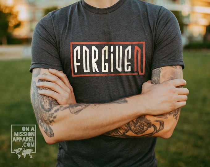 Featured listing image: Forgiven Adult Unisex Sustainable Fair Trade Triblend T-shirt