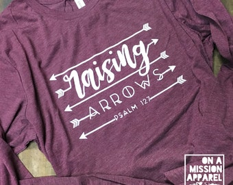 Raising Arrows Adult Unisex Long Sleeve Tees
