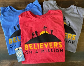 Believers On A Mission Fundraiser YOUTH Unisex T-shirt