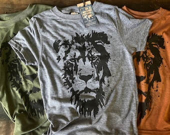 Greater is He Lion of Judah Fair Trade Sustainable Eco-Friendly Youth Triblend T-shirt
