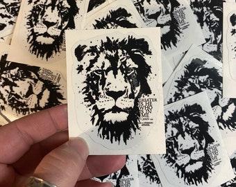 Greater is He Lion of Judah Sticker Waterproof Hydro Flask Decal | Laptop Sticker