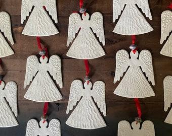 Angel Hammered Steel Metal Fair Trade Christmas Ornament from Haiti