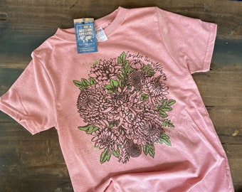Consider the Wildflowers Youth Crew Fair Trade Eco Friendly Sustainable Triblend T-shirt