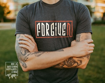 Forgiven Adult Unisex Sustainable Eco Friendly Fair Trade Triblend T-shirt