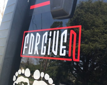 Forgiven Vinyl Window Decal