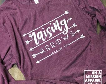 Raising Arrows Adult Unisex Long Sleeve Tees