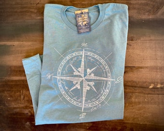 Way of Peace Compass Adult Unisex Mission T Shirt | Christian T Shirts for Women | Christian T Shirts for Men