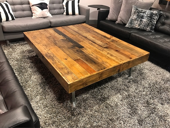 Coffee Table Rustic Coffee Table Distressed Wood Table Etsy