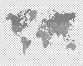 World map silhouette etsy popular items for world map silhouette gumiabroncs Choice Image