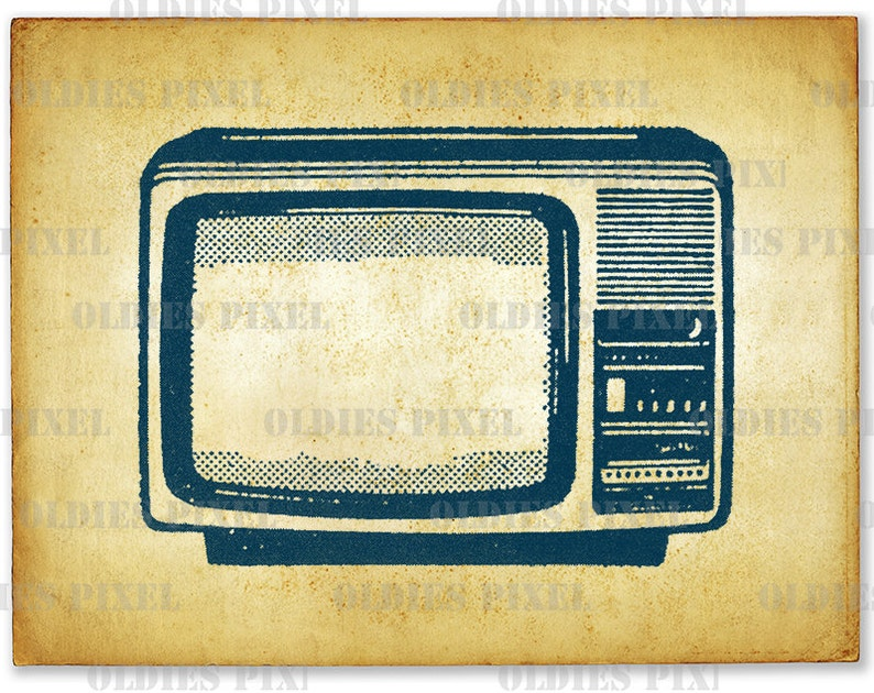 Vintage Television TV Line Art Illustration Hand Drawing Digi Image Clipart  Instant Download Instant Download Art Design PNG L729