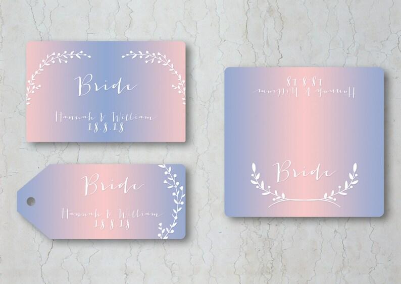 Serenity /& Rose Quartz Place Cards