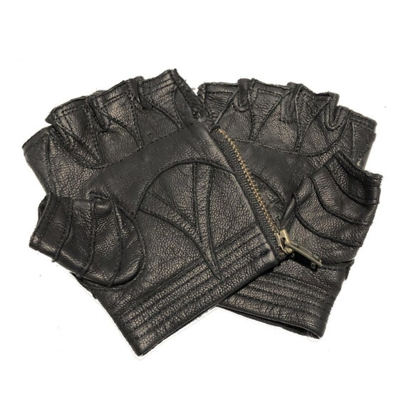 Leather Gloves littleKINGDesigns High Fashion Biker Accessories AMPHIBIAN GLOVES Motorcycle Apocalyptic