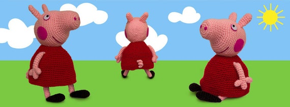 Peppa Pig - free crochet pattern - Amigurumi Today | 211x570