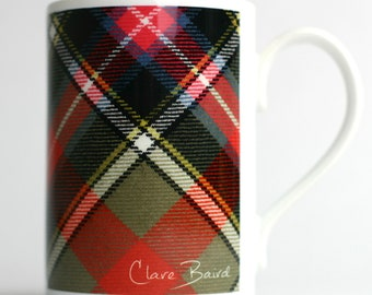 Clare Baird Proud Scottish Pheasant Bird Porcelain Mug Cup