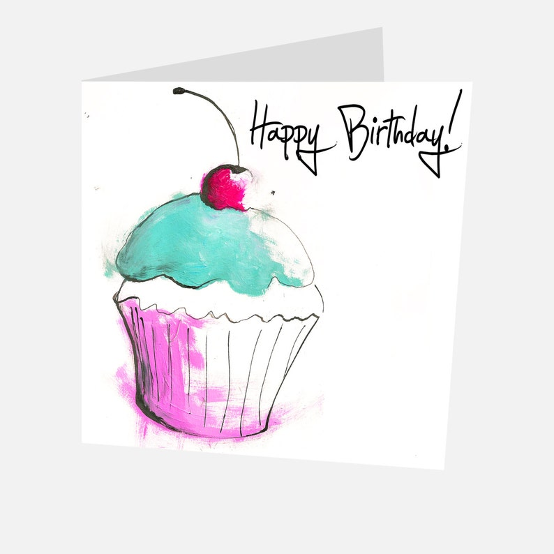 Cupcake Birthday Card Free UK Delivery Cake Lovers Cup