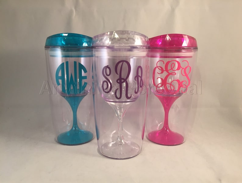 Personalized Wine Cup Monogram Cup Personalized Gift image 0