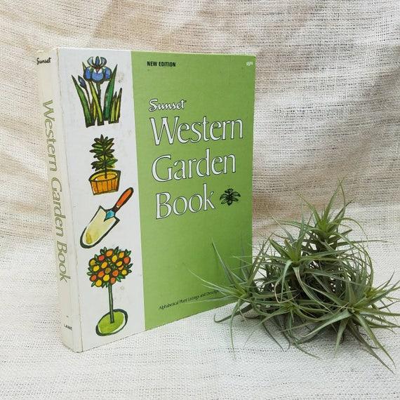 Vintage 1970 Sunset Western Garden Book Hardcover Botanical   Etsy