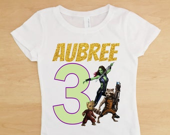 Guardians of the Galaxy Birthday Outfit, Guardians of the Galaxy Tutu, Girls Guardians of the Galaxy Personalized Shirt, Groot Shirt