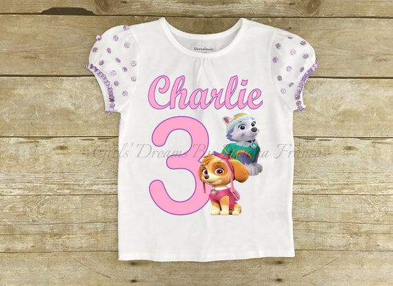 Paw Patrol Birthday Shirt Personalized Outfit