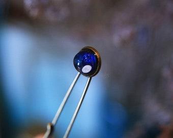 Urchin galaxy / Pin brooch with tiny sea urchin shell