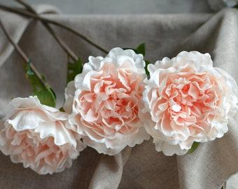 Peach silk flowers etsy peach blush peonies real touch peonies diy silk wedding bridal bouquets wedding table centerpieces mightylinksfo