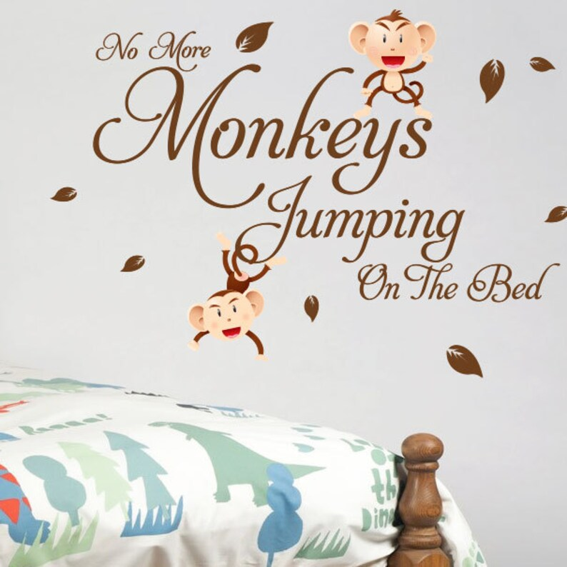 Monkey Tree Birds Animal Nursery Children Art Wall Stickers Wall Decals