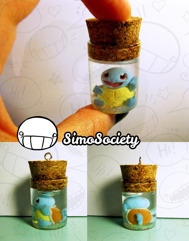Squirt Tiny Jar Bottle Necklace