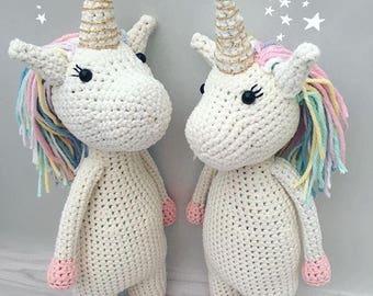 Crochet unicorn, handmade amigurumi toy, shelfie, handmade unicorn, new baby shower gift, soft toy, baby gift, kids gift