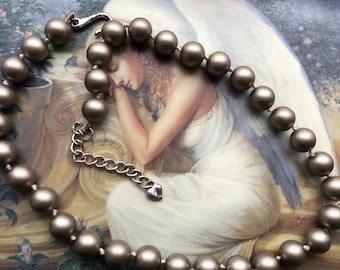 Gorgeous Grey Pearl Necklace