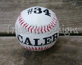 CUSTOMIZED BASEBALL. Personalized Baseball. Senior Gift, Birthday Gift, Wedding Gift
