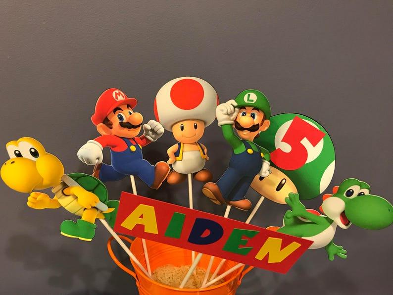 Seven Piece Super Mario Centerpiece