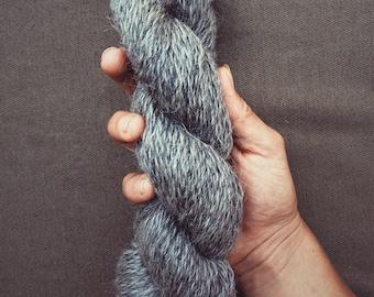 100% Grey Mohair Yarn